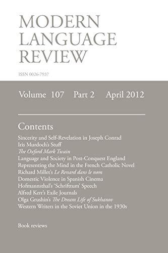 MLR April 2012 (Paperback)
