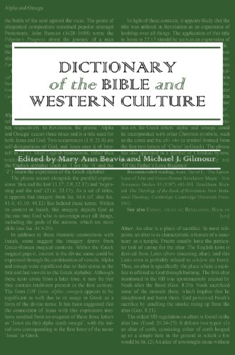 Dictionary of the Bible and Western Culture: Michael J. Gilmour