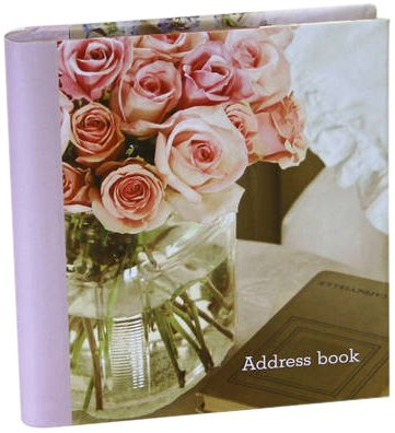 Romantic Country Flowers Large Address Book (Paperback): Paperstyle