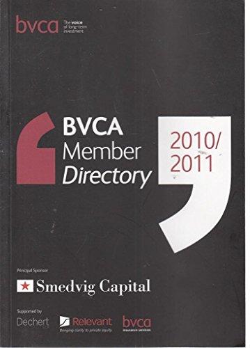 9781907591006: BVCA Member Directory 2010/2011