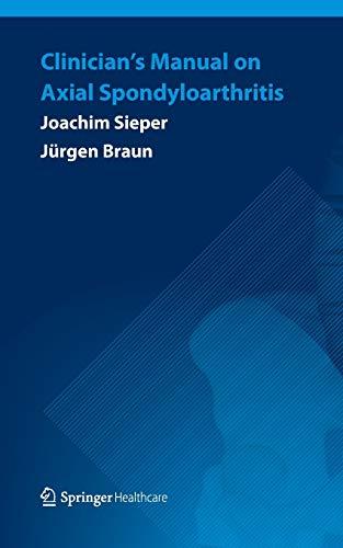 9781907673849: Clinician's Manual on Axial Spondyloarthritis