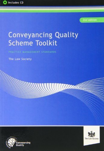 Conveyancing Quality Scheme (Paperback): The Law Society