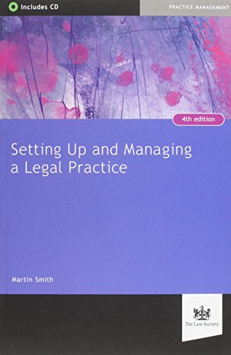 9781907698378: Setting Up and Managing a Legal Practice: A Guide for Solicitors