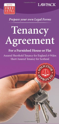 9781907765117: Tenancy Agreement for a Furnished House or Flat Form Pack