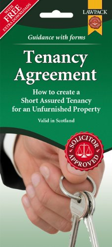 Unfurnished Tenancy Agreement Form Pack (Scotland): Lawpack