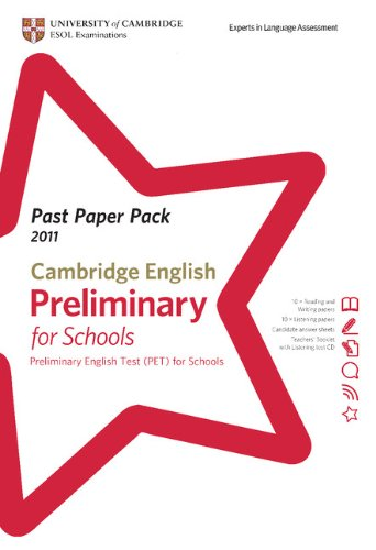 9781907870286: Past Paper Pack for Cambridge English: Preliminary for Schools 2011 Exam Papers and Teachers' Booklet with Audio CD