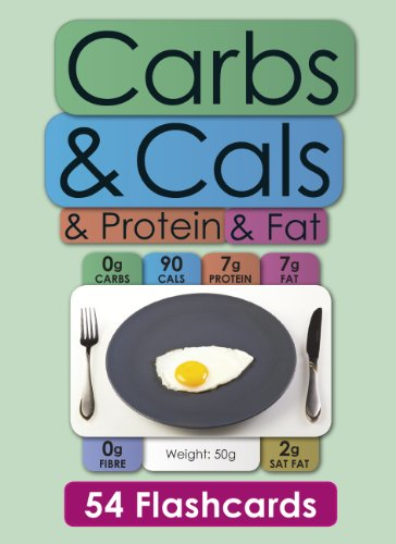 Carbs & Cals & Protein & Fat Flashcards: 54 Flashcards for Counting Carbohydrate, ...