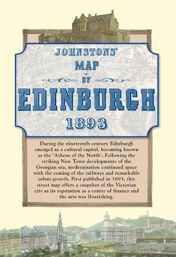 Map of Edinburgh, 1893 (Historical Map): Old House Books