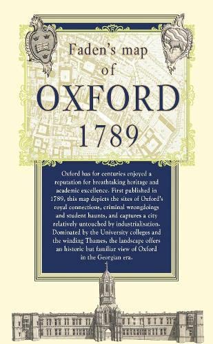 Map of Oxford, 1789 (Old House): Old House Books