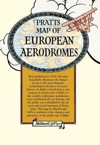 Pratt's Map of European Aerodromes (Old House): Gill, MacDonald