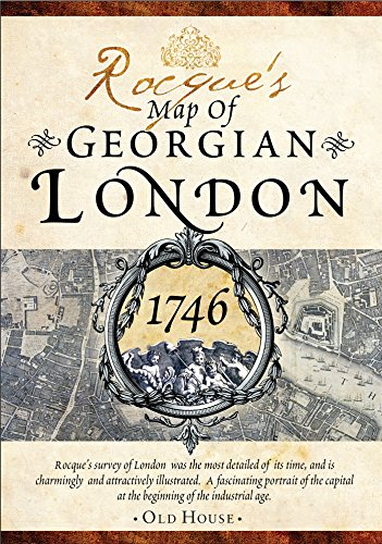 9781908402547: Rocque's map of Georgian London, 1746: Detailed street map (Historical Street Maps)