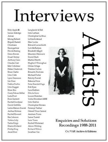 9781908419224: Interviews-Artists 4: Pt. 4: Patterns of Experience: Recordings 1988-2011