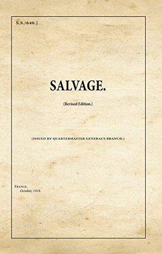 Salvage (War Office Publications): WAR OFFICE WW1
