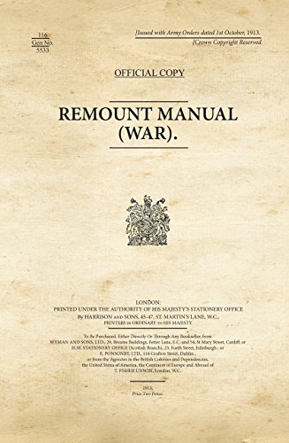 Remount Manual (War): WAR OFFICE WW1