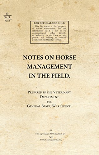 Notes on Horse Management in the Field (1919) (War Office Publications): WW1 War Office