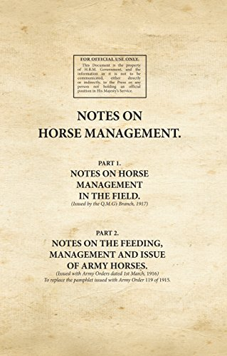 9781908487841: Notes on Horse Management (Pts 1 & 2) (War Office Facsimiles)