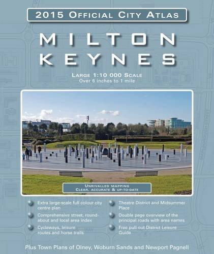 9781908851109: Milton Keynes 2015 Official City Atlas