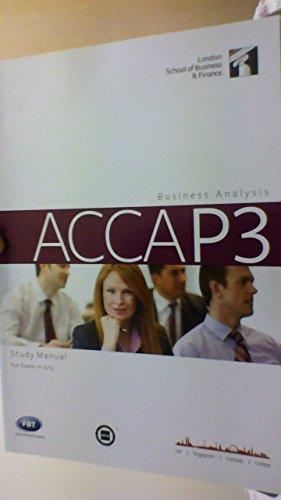 9781908888051: Business Analysis Study Manual - ACCA P3 - LSBF