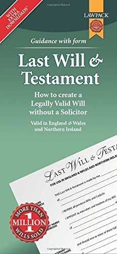 Last Will & Testament Form Pack: Rajah, Eason; Solicitor, Johnsons
