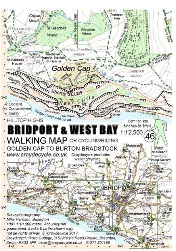 9781909117105: Bridport & West Bay Walking Map: Golden Cap to Burton Bradstock