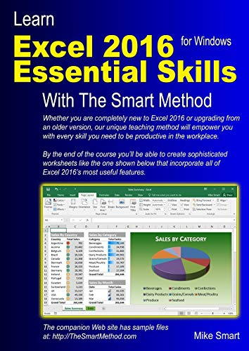 9781909253087: Learn Excel 2016 Essential Skills with The Smart Method: Courseware tutorial for self-instruction to beginner and intermediate level