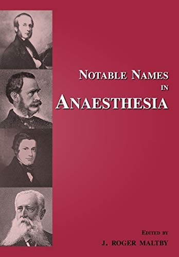 9781909300071: Notable Names in Anaesthesia