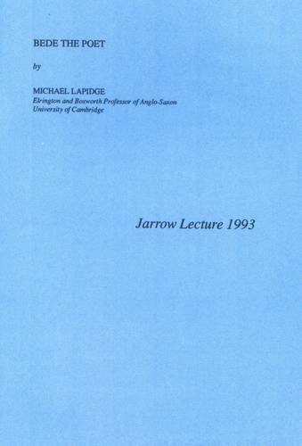 9781909517059: Bede the Poet: Jarrow Lecture 1993