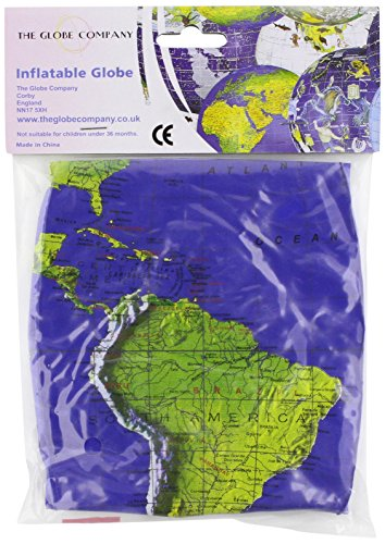 "9781909558014: 12"" Dark Blue Topographical Inflatable Globe"