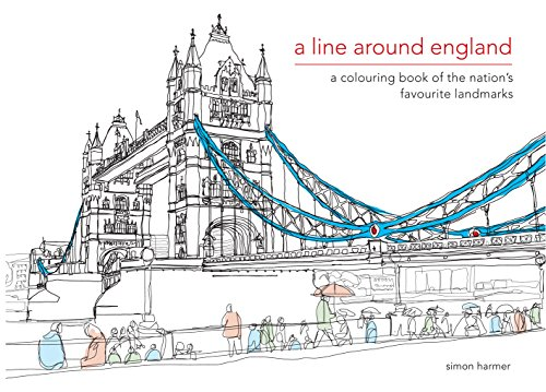 9781909881228: A Line Around England: A Colouring Book of the Nation's Favourite Landmarks (Colouring Books)