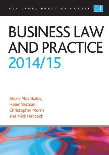 9781910019474: Business Law and Practice 2014/2015 (CLP Legal Practice Guides)