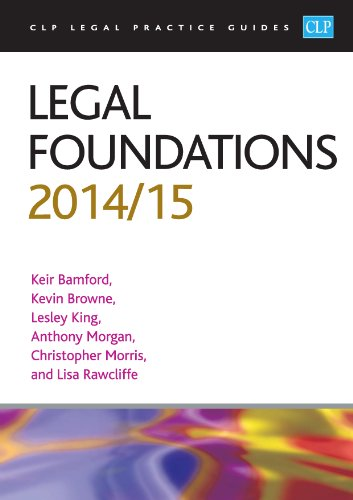 9781910019504: Legal Foundations 2014/2015 (CLP Legal Practice Guides)