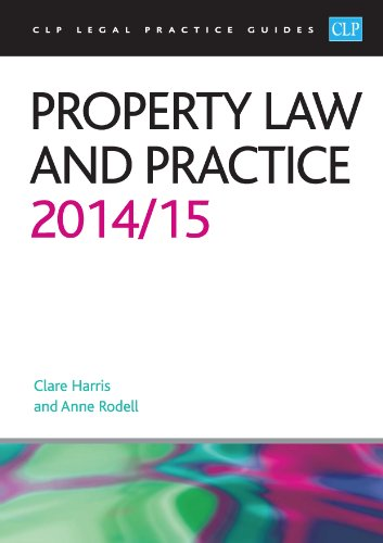 9781910019511: Property Law and Practice 2014/2015 (CLP Legal Practice Guides)