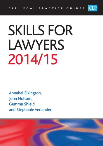 9781910019528: Skills for Lawyers 2014/2015 (CLP Legal Practice Guides)