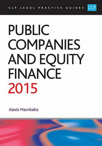 9781910019887: Public Companies and Equity Finance 2015
