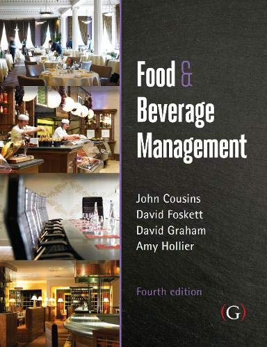 9781910158739: Food and Beverage Management