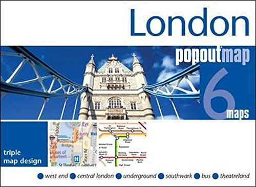 9781910218181: London PopOut Map: 3 PopOut maps in one handy, pocket-size format