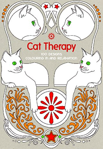 9781910254707: Cat Therapy: 100 Designs Colouring in and Relaxation