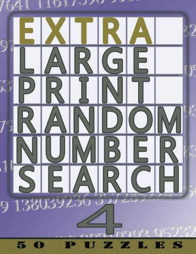 9781910302811: Extra Large Print Random Number Search 4: 50 Easy To See Puzzles (Volume 4)