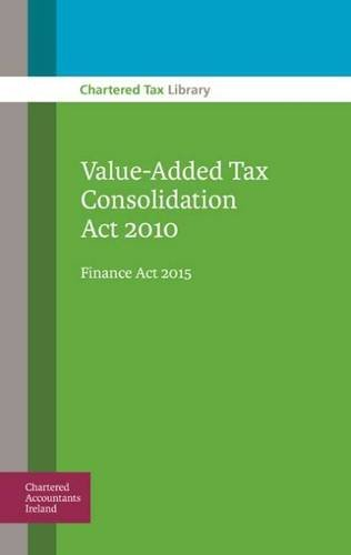 Value-Added Tax Consolidation Act 2010: Finance Act: Kimberley Rowan and