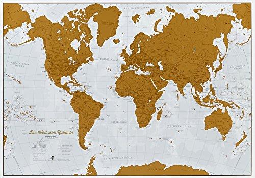 9781910378663: Die Welt zum Rubbeln. Scratch Map Deutsch: Weltkarte zum freirubbeln der Länder