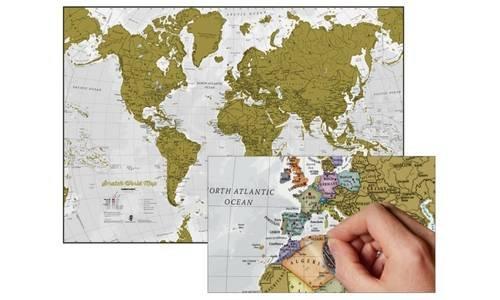 9781910378953: SCRATCH WORLD MAP-CARTE DU MONDE A GRATTER(GB)