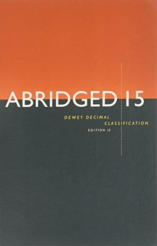 9781910608791: Abridged Dewey Decimal Classification and Relative Index