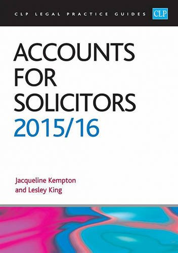 9781910661253: Accounts for Solicitors 2015/2016 (CLP Legal Practice Guides)