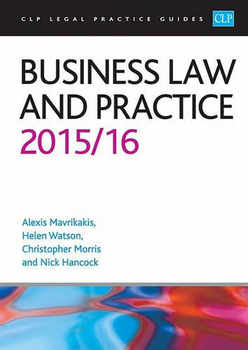 9781910661277: Business Law and Practice 2015/2016 (CLP Legal Practice Guides)