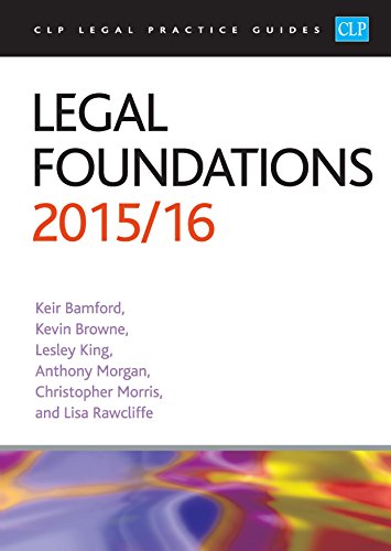 9781910661307: Legal Foundations 2015/2016 (CLP Legal Practice Guides)