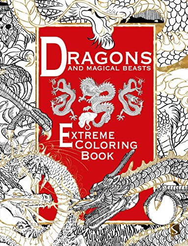 9781910706282: Dragons and Magical Beasts: Extreme Coloring Book