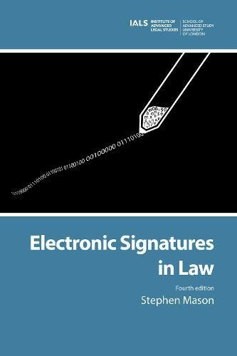 9781911507000: Electronic Signatures in Law