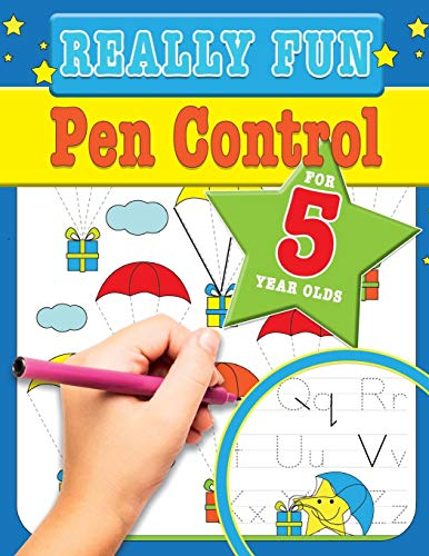 9781912155378: Really Fun Pen Control For 5 Year Olds: Fun & educational motor skill activities for five year old children