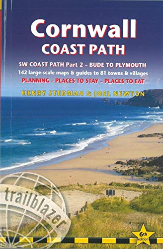 9781912716050: Cornwall Coast Path: (Trailblazer British Walking Guide) with 142 Large-Scale Walking Maps & Guides to 81 Towns & Villages - Planning, Places to Stay, ... to Stay, Places to Eat - Bude to Plymouth