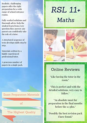 9781916193123: RSL 11 Plus Books: 11+ Maths - Practice Papers & Detailed Answers